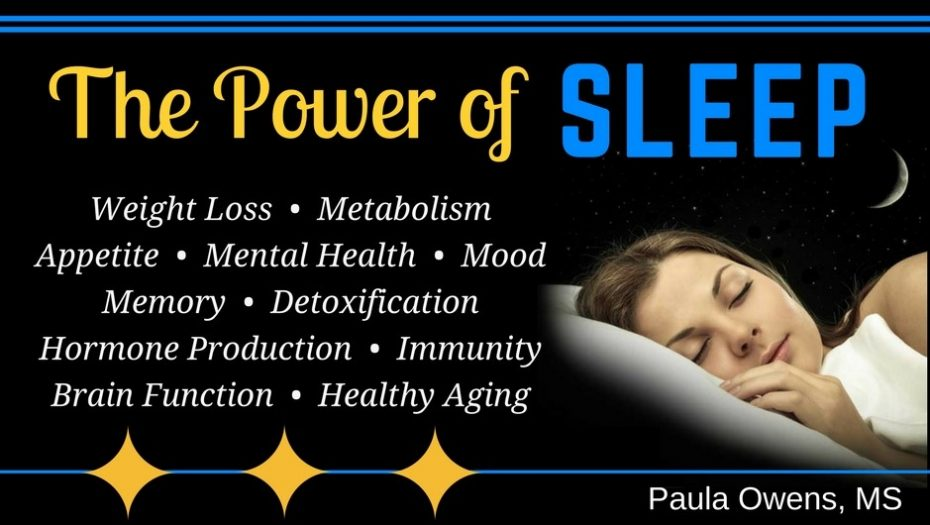 Poor Sleep - Paula Owens, MS Holistic Nutritionist and Functional Health Practitioner